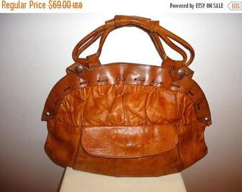 50% OFF Really Nice Must See Cognac Leather Satchel/Shoulder Bag