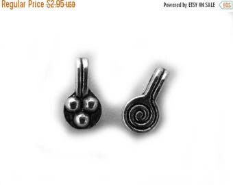 HALF PRICE 10 Small Spiral Charms - 8mm