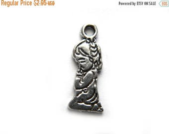 HALF PRICE 6 Silver Little Girl Praying Charms