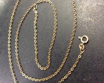 """18ct gold 22"""" trace chain 4gm"""