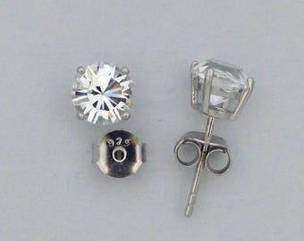 Swarovski Stone Stud Earrings925 Sterling Silver