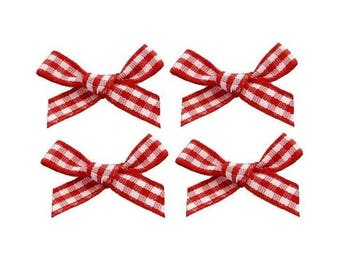 4 nodes gingham red 2 cm