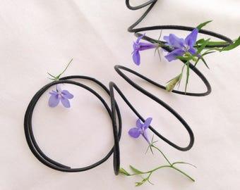1 meter wire 2mm round genuine black leather cord