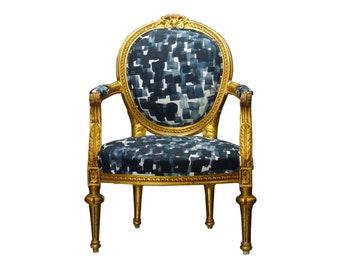 Louis XVI Style Giltwood Armchair