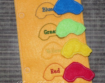 Activity Book - Busy Book - Activity Page - Soft Quiet Book - Learning Color Matching - Football  - Toddler Toys
