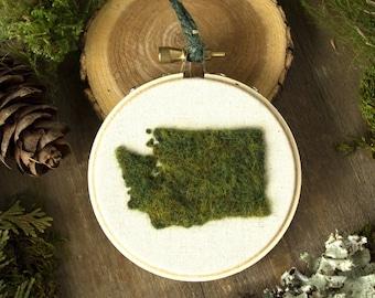 """3"""" Washington State, Moss Wall Art"""
