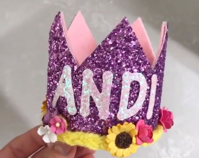 Rapunzel Birthday Crown || Tangled Birthday || purple || Purple Crown || Birthday Girl || Birthday || Crown ||  Birthday