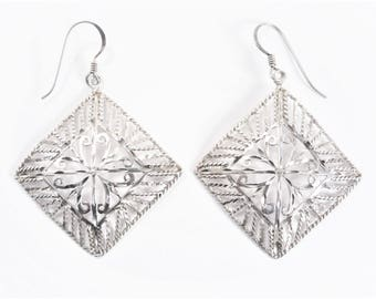 Vintage Sterling Filigree Dangle Earrings