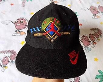 Vintage 90's Nike Air Jordan wool Snapback Hat, Adult Size NBA Nike Swoosh MVP