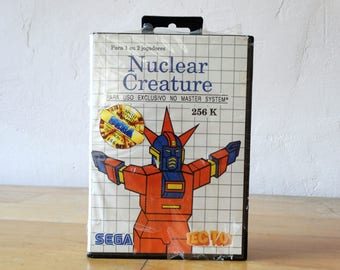 Nuclear Creature, Sega Game Catridge, Master System Catridge, Video Game, Sega Catridge, Sega Gift, Old Video Game, Console Game, Sega Game