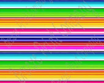 craft serape stripe pattern Mexican blanket patterned sheet - HTV or Adhesive Vinyl -  HTV 4105