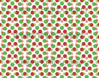 Christmas color dark red and green dots with white background polka dot pattern craft vinyl sheet - HTV or Adhesive Vinyl -  HTV1652