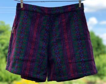 Comfy Woven Shorts: Blue Diamond