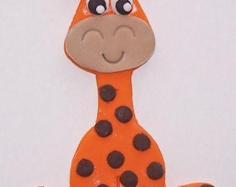 """4"""" High Fondant Baby Giraffe Cake Topper"""