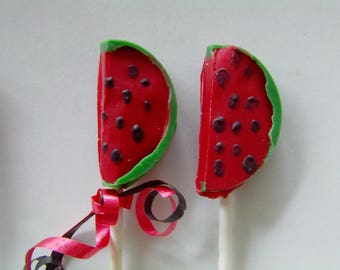 Watermelon Candy Lollipop (12) Tutti Fruitti/One In A Melon/Tropical Party/Baby Shower/First Birthday/Birthday Party