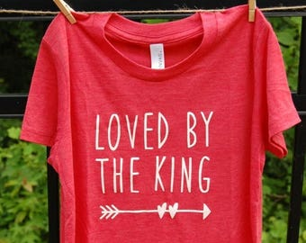 CHILDREN'S Triblend T-Shirt Loved By The King