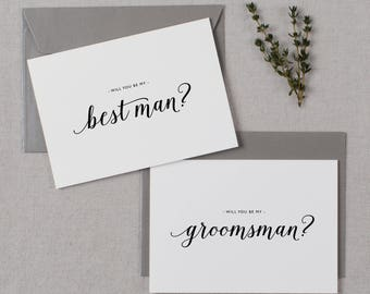 6 x Will You Be My Groomsman, Will You be My Best Man, Best Man Card, Groomsman Card, Wedding Party, Will You Be My Cards, Usher Card, K3
