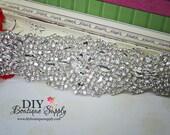 Large Bridal Sash Rhinestone applique - Crystal Sash Applique DIY bridal sash wedding sash Crystal applique for Sash Belt N160