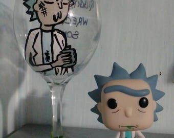 Rick wine glass