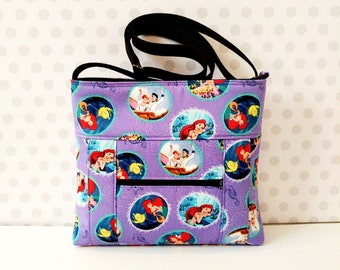 Little Mermaid Small Crossbody Bag / Ariel /  Dream Fairy Tale Ending