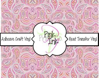 Beautiful Paisley Craft Vinyl and Heat Transfer Vinyl Pattern 441