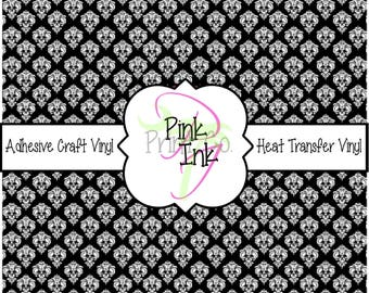 Beautiful Patterned Craft Vinyl and Heat Transfer Vinyl in Damask Patterns