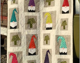 A Tale of 2 Gnomes    -    #311   By: No2 Abby Lane Quilts  -  An Applique Quilt