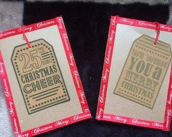 Christmas gift tag card