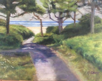 Path to the Beach, Pastel on paper