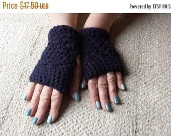 ON SALE Fingerless Mitts Gloves crocheted handmade Peruvian merino