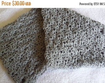 ON SALE Infinity Scarf - Cowl Scarf, Circle Scarf, crochet Scarf, handmade neckwarmer, Lacy Scarf, Gift for Her