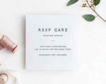 5x3.5 RSVP Card Printing Service | Envelopes NOT Included