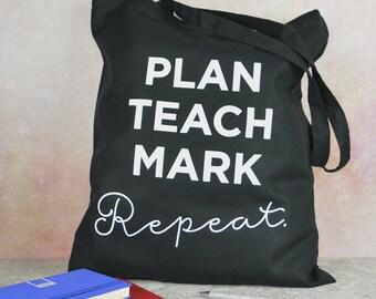 Teacher tote bag, teacher gift, teacher slogan tote bag, gift for teacher, teacher end of term gift