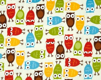 Owl Fabric  /  Urban Zoologie by Ann Kelle for Robert Kaufman  /  Cotton Fabric