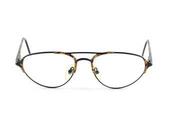 Vintage eyeglasses German frame black and brown glasses oval specs