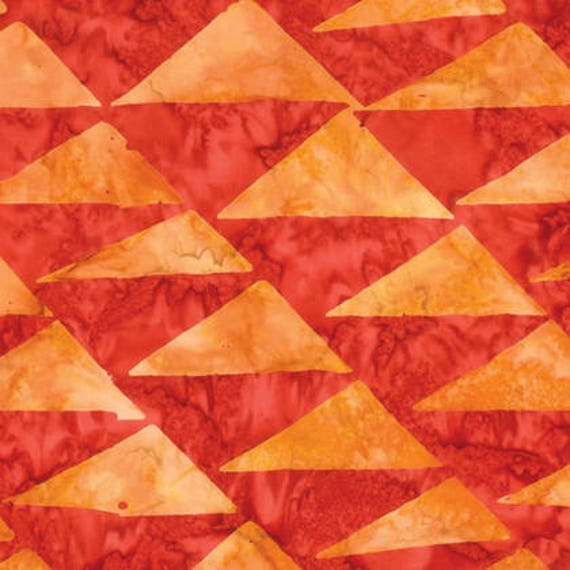 FLAGS Orange ARTISAN Batik Kaffe Fassett Sold in 1/2 yd increments