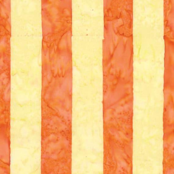 BIG STRIPE Yellow ARTISAN Batik Kaffe Fassett Sold in 1/2 yd increments