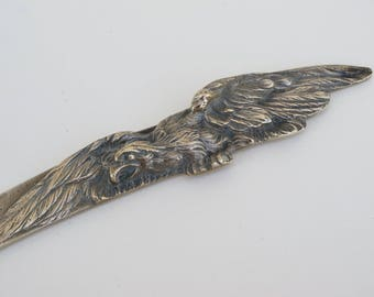 Vintage French Brass Letter Opener Napoleons Eagle