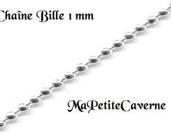 1 mm silver ball chain