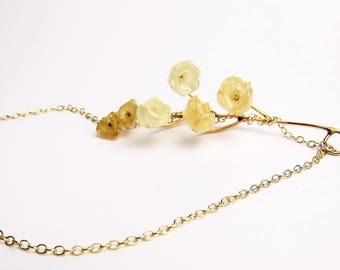 Preserved Lily of the Valley Necklace