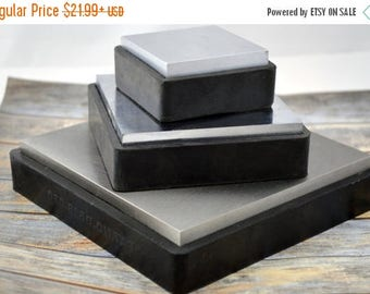 "Summer Sale Steel BENCH BLOCK, 2 1/2"", 4"" or 6"" Square Steel Block with Rubber Base, Metal Forming Jewelry Making Tool"