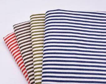 Stripe fabric, linen cotton fabric, printed fabric, pillow cover fabric, tablecloth, linen fabric-FSYM-by 1/2m