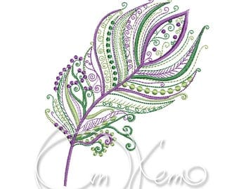 MACHINE EMBROIDERY DESIGN - Feather