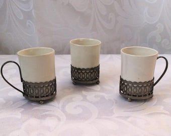 Vintage English Teacups, Set of Three