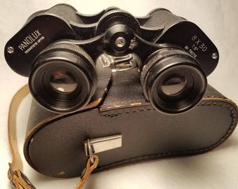 1960's German PANOLUX Vergütete Optik Binoculars  8X30,  7.5 Degrees No.78074 – Excellent Condition