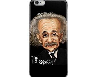 Einstein, iPhone Case, Think like Einstein, smart phone case, Albert Einstein, Einstein graduation gift