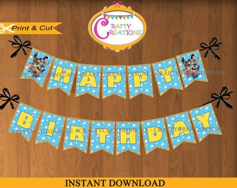 INSTANT DOWNLOAD - Toy Story Banner - Toy Story Party Decor - Happy Birthday Banner - Woody - Buzz Lightyear - PRINTABLE -CraftyCreationsUAE