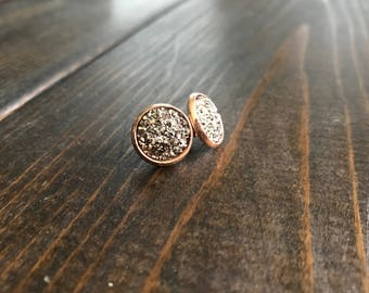 Rose Gold 14mm Stud Earrings
