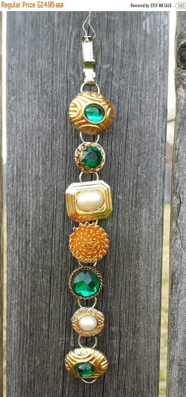 "CYBER MONDAY Vintage Earring Bracelet Small size 6"""