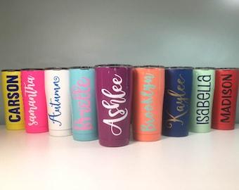 Personalized 20oz SIC Tumbler, Custom SIC Cups, Powder Coated Cup, Powder Coated Tumbler, 20oz Rambler, Monogram Tumblers, Yeti Style Cup